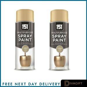 Champagne Gold Spray Paint Aerosol Auto Car Primer Matt Gloss Lacquer Wood Metal