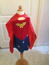 Justice League Wonder Woman Girl's Outfit Dress & Cape Size S