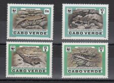 TIMBRE STAMP 4 CAP VERT Y&T#493-96 LEZARD WWF NEUF**/MNH-MINT 1986 ~C12