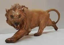 Ferocious Lion Ceramic Figurine Made in Italy Signed G Cacciapuoti