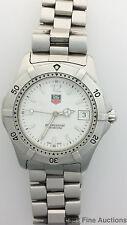 Genuine Tag Heuer WK1111 White Dial Mens Working Wrist Watch