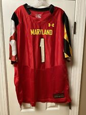 Red Under Armour University of Maryland Terrapins 2XL Authentic Football Jersey