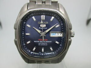 SEIKO SUPERIOR 7S36-5020 DAYDATE TITANIUM AUTOMATIC MENS WATCH