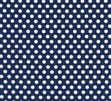 Michael Miller Kiss Dot Fabric  White Polka Dot Spot on Navy Blue - FQ