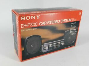 Sony ES-P300 ES-R11 XS-3010 Vintage Car Stereo Cassette System w/ Speakers (new)