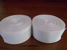 "4-701 MILITARY WHITE NYLON WEBBING STRAPS 2"" x 27' ***NNB*** (LOT OF 2)"