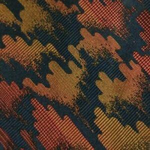 Blue Pink Orange Abstract Silk YSL Tie