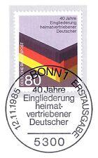 RFA 1985: Inscription Déplacées Nr 1265! Bonner Cachet du premier jour! 157