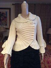 ICONIC GORGEOUS CHIC Oscar De La Renta Knit/crochet cashmere blend cardigan