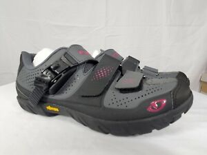 Giro Terradura Womens Mountain Bike Cycling Shoes - Gray Berry or Shadow White