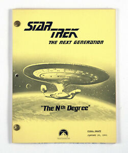 "STAR TREK: TNG ORIGINAL SCRIPT-  ""The Nth Degree,"" Written by Joe Menosky"