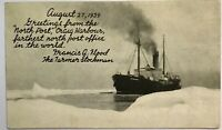 Nascopie Ship North Post Craig Harbour NWT Canada Post Office Postcard Map
