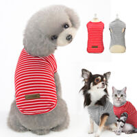 Thin Light Cozy Small Pet Dog Clothes Puppy Pug Cat Coat Pajamas Spring T-shirt