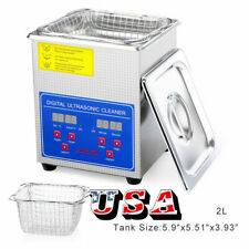 Ultrasonic Cleaner 2l Stainless Steel Industry Heated Heater Tank Timer Usa