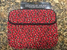 """10"""" in Red Cheetah/Leopard Case/Sleeve/Pouch for iPad/Tablet/Laptop"""