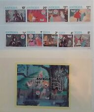'Sleeping Beauty' Christmas 1980 scenes from Disney's film . Postage Stamps