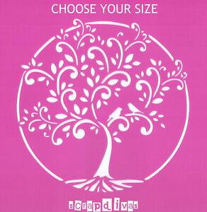 Scrapbooking - STENCILS TEMPLATES MASKS SHEET - Tree Of Life Design 1171
