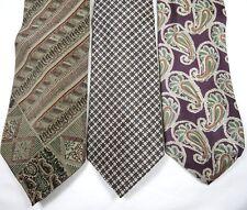 Fumagallis Kuppenheimer Dunhill Tailors 3 Silk Ties Brown Green Red Purple Gray