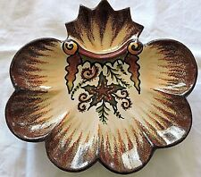 French oysters plate  P.FOUILLEN QUIMPER /2 STARFISH BRETAGNE