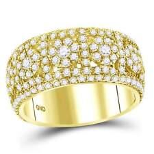 14 kt Yellow Gold  2 1/2 CT-DIA MEN RING