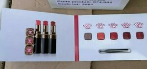 Chanel Rouge Coco Flash Card Lipstick X5 Shades & Mini Lip Brush Bn Sealed