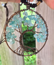 Apatite Copper  Tree Of Life Necklace men Women lovers birthday Gift Pendant