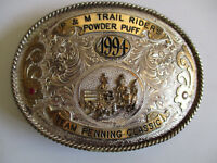 1994 P&M Trail Riders Team Penning Classic championship cowboy rodeo belt buckle