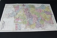 alte Karte Deutsche Eisenbahn und Verkehrs Handkarte old vintage Sammler