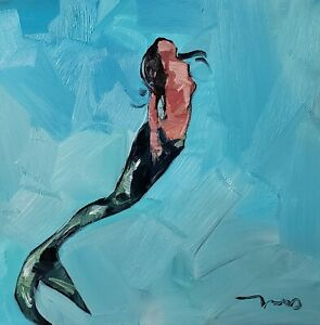 JOSE TRUJILLO Oil Painting IMPRESSIONISM MERMAID MARINE CONTEMPORARY ARTWORK