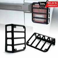 RT-TCZ Pair Tail Light Guard Cover For Jeep Wrangler JK 07-17 Stainless Black