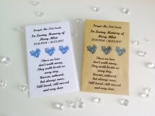10 Personalised Forget Me Not Seed Favour Envelopes Funeral Memorial Remembrance