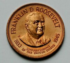 "Franklin D Roosevelt 32nd US President (1933-1945) Medal Token/Coin ""WW II Pres"""
