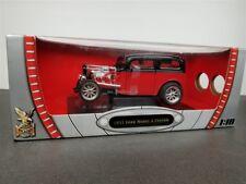 1931 FORD MODELS A CUSTOM DIE CAST 1/18 RED W/ BLACK BY SHYNE RODZ 92849