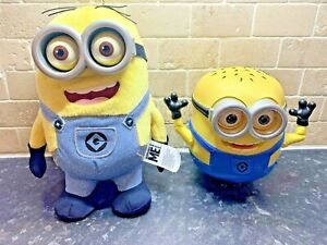 Despicable Me Minion Talking Toy Phrases Light Up Eyes Bob & Kevin