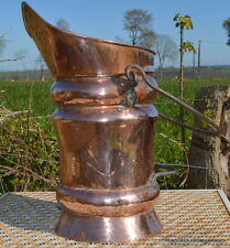 antique huge Copper French, late 19th century. Handmade skuttle stick brolly
