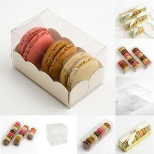 Macaroon / Macaron Boxes Clear - Plain or Inserts Favour Gift Boxes (Box Only)