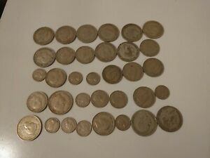 Collection Of Old British Silver Coins