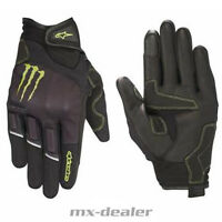 Alpinestars Monster Energy Handschuhe Raid schwarz Supermoto Stunt Enduro MX