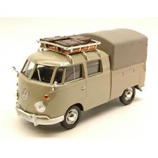 VW TYPE 2 (T1) 1965 PICK UP CLOSED WITH ROOF RACK BEIGE 1:24 MotorMax Die Cast