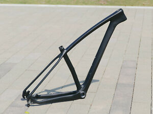 "2021 Carbon Matt 29ER Mountain Bike Frame 19"" Bicycle Frame QR 135 / 142mm axle"