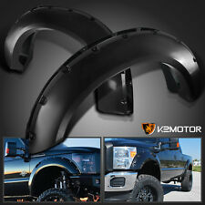 2011-2016 Ford F250/350 SuperDuty Offroad Black Pocket Style Rivet Fender Flares
