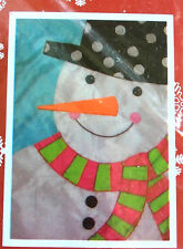 "House Flag Decorative Winter Christmas 28x40"" Snowman Face CUTE NEW"