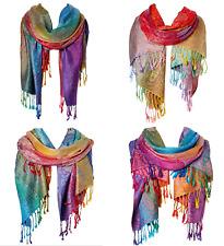 Paisley Pashmina Women Winter Fall Scarf Shawl Wrap ~ Valentine Gift ~ Rainbow