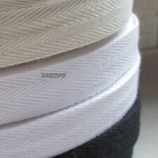 45M Cotton Tape Webbing Sewing Strap Ribbon Roll For Bunting Apron Bag Belt1-5cm