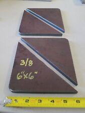 "Steel Welding Gusset, 3/8"" x 6"" x 6""  Lot of 4"