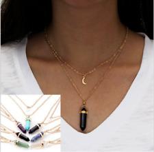 Charm Fashion Pendant Jewelry Choker Crystal Chain Chunky Bib Statement Necklace