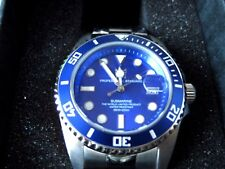 HYAKUICHI 101 Blue Watch 200m Divers SUBMARINE Bezel MENS F/S Japan Tracking New