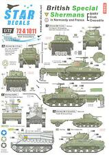 Star Decals 1/72 BRITISH SPECIAL SHERMAN TANKS IN NORMANDY and FRANCE