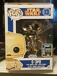 Funko Pop Star Wars C-3PO (Metallic) #13  Summer Convention 2015 + protector