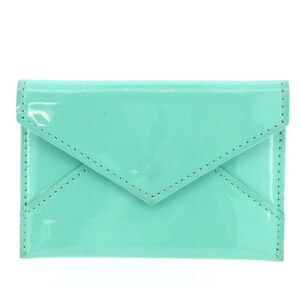 Tiffany & Co Card Case Blue Woman Authentic Used Y246
